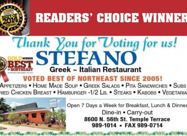 Best Greek Again! Stefano Greek Italian Restaurant 2014