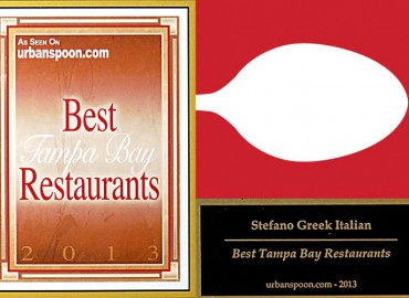Stefano Greek Italian Restaurant – Urbanspoon's Best Tampa Bay Restaurants 2013