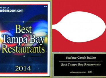 Stefano Greek Italian Restaurant – Urbanspoon's Best Tampa Bay Restaurants 2014